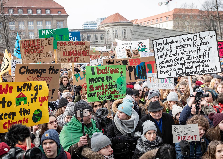 Foto von einer FFF-Demo von Jörg Farys für Fridays for Future Deutschland